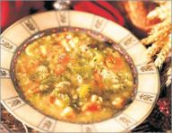 Multigrain chicken soup